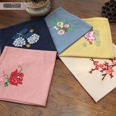 指間diy刺繡手帕套件手工材料包初學古風非蘇繡棉手絹禮物男女士 聖誕交換禮物
