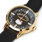 Hello Kitty手錶 皮革錶帶金框腕錶女用手錶/女錶 [喜愛屋]