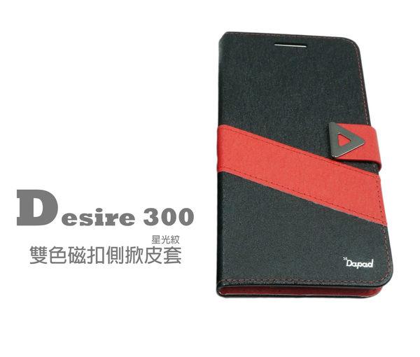 【限量出清】HTC Desire 300 星光紋雙色磁扣皮套