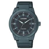 CITIZEN GENTS Eco-Drive 簡約經典時尚全黑鋼男錶/黑/BM7145-51E