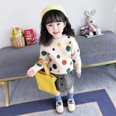女童毛衣2019新款秋裝兒童洋氣套頭針織衫女寶寶加厚款秋冬打底衫