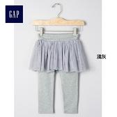 Gap嬰兒 舒適可愛蓬蓬裙式內搭褲 234180淺灰