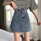 牛仔半身裙 夏季裙子2020年新款時尚韓版復古高腰牛仔半身裙女顯瘦A字裙短裙【夏季促銷】