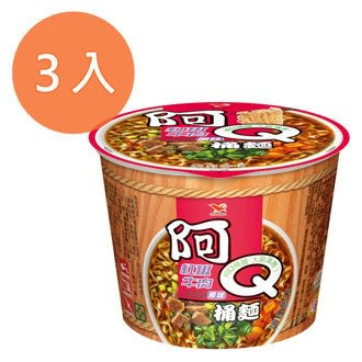 阿Q桶麵 紅椒牛肉風味 101g (3入)/組