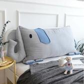 靠枕 INS卡通方靠背床頭靠墊簡約卡通風內含獨立枕芯可拆洗『鹿角巷YTL』