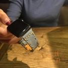 適用apple watch錶帶復古蘋果手表表帶iwatch軟皮質【橘社小鎮】