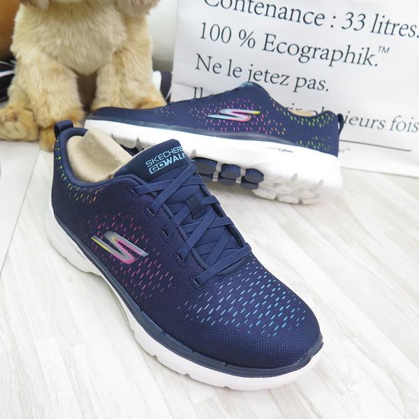 Skechers GO WALK 6 Vibrant Energy女款 健走鞋 124520NVMT 藍【iSport】