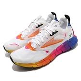 Reebok 慢跑鞋 ZIG Kinetica Horizon 白 彩色 男鞋 透氣 緩震 運動鞋【ACS】 FZ4632