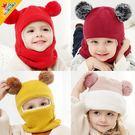 寶寶毛帽 加厚加絨護耳帽 嬰兒保暖毛線帽...