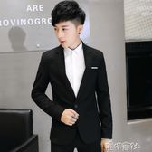 小西裝男士春季英倫休閒單西青年韓版修身型西服男裝上衣外套 港仔會社