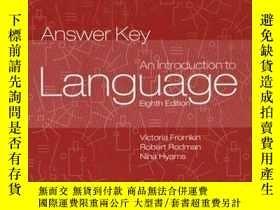 二手書博民逛書店Introduction罕見To Language Answer KeyY256260 Victoria A.