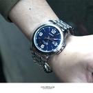 CASIO卡西歐藍面銀帶不鏽鋼錶NEC156
