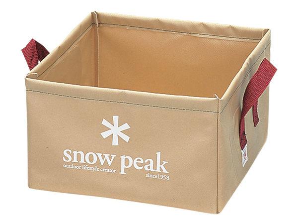 [好也戶外]snow peak 軟式方形水桶-14L No.FP-151
