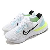 Nike 慢跑鞋 Renew Run 2 白 藍 基本款 運動鞋 男鞋 發泡中底【ACS】 CU3504-100