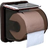 衛生間廁所紙巾盒免打孔創意捲紙架吸盤壁掛式抽紙廁紙盒家用防水 港仔會社