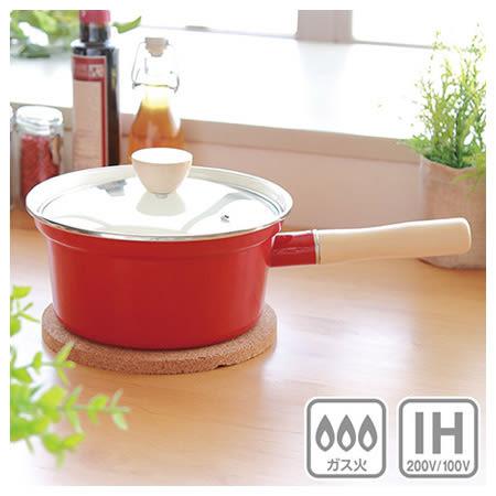 IH 琺瑯長把鍋 lemane 18cm RE 電磁爐瓦斯爐均適用 NITORI宜得利家居