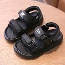 兒童涼鞋2021新款韓版夏季中小童軟底男童真皮學生防滑男孩沙灘鞋 童趣屋