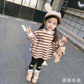 女童衛衣 女童秋裝2018新款寶寶洋氣寬鬆衛衣 JA3284『美鞋公社』