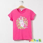 印花短袖T恤17玫瑰色-bossini女童
