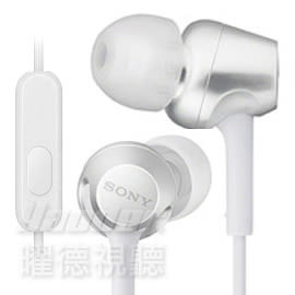 【曜德 / 送收納盒】SONY MDR-EX255AP 白 細膩金屬 耳道式耳機 線控MIC / 免運