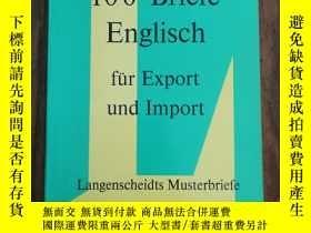 二手書博民逛書店100罕見BIEFE ENGLISCH FUR EXPORT I
