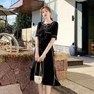 洋裝 輕熟風格顯瘦連身裙-媚儷香檳-【D1642】