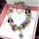開運手錬 紫水晶轉運珠開運手鏈女 韓版個性串珠手串 網紅情人節禮物女生