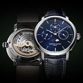康斯登CONSTANT自製機芯萬年曆限量手錶 FC-775NSP4S6 藍