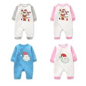 長袖連身衣 聖誕老人 空氣棉嬰兒連身裝 寶寶兔裝 保暖童裝 XE22712 好娃娃