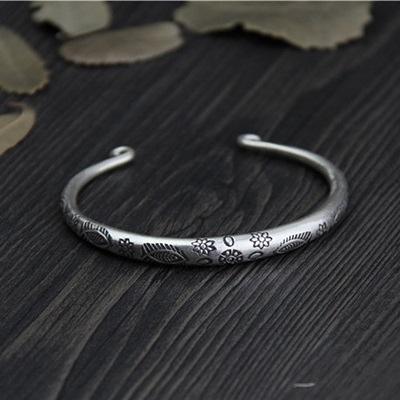 純銀手環(泰銀)-可愛小魚生日情人節禮物女手鐲73gg24[時尚巴黎]