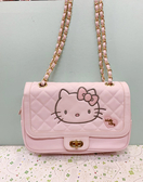 【震撼精品百貨】Hello Kitty 凱蒂貓~Sanrio HELLO KITTY格紋兩用斜背袋#20770