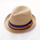 親子可折疊巴拿草帽子 男女英倫爵士禮帽韓版學生兒童潮人遮陽帽