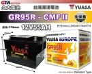 【久大電池】 YUASA 湯淺電池 GR95R 免保養 歐洲車 汽車電瓶 58-500 58-530 GT55DR 適用