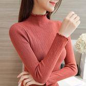 半高領套頭毛衣女秋冬新款正韓短款打底衫修身百搭長袖短款針織衫 雙12八折搶先夠!