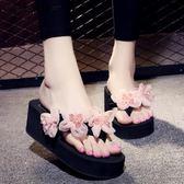 人字拖拖鞋增高厚底防滑耐磨休閒沙灘鞋