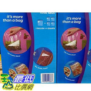 [COSCO代購] C921279 ZIPLOC GALLON FREEZER BAG 雙層夾鏈冷凍保鮮袋 38入X4盒