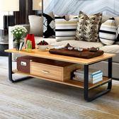 茶几簡約客廳現代小戶型矮桌小桌子組裝鐵藝玻璃茶几茶桌桌子簡易