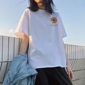 Carphanie卡芬妮 可愛小雛菊圓領100%棉質上衣-6色