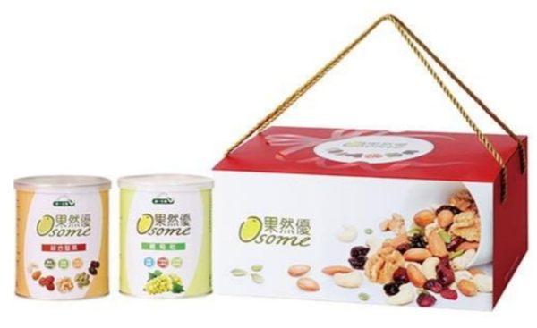 統一生機果然優堅葡禮盒(綜合堅果+葡萄乾) (出貨約3~6天)