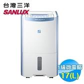 台灣三洋 SANLUX 17公升大容量清靜除濕機 SDH-170LD