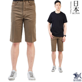 【特價款 即將斷貨】日本布料_沉穩馬鞍棕色 休閒短褲(中腰) 390(9423) 大尺碼40腰