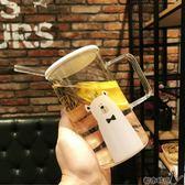 馬克杯 可微波爐加熱大玻璃杯帶把可愛男女馬克家用杯子透明水杯帶蓋吸管 - 都市時尚