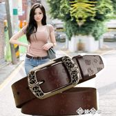 純牛 復古針扣女士 帶簡約百搭韓國 休閒時尚裝飾寬原創腰帶 西城故事