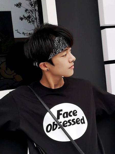 發帶韓國男街頭潮人束頭帶 頭巾寬邊簡約綁帶頭飾