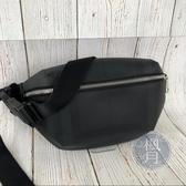 BRAND楓月 BURBERRY 黑PVC 格紋 腰包