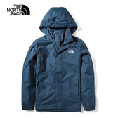 The North Face 男 防水透氣衝鋒外套 藍 NF0A49F7H2G【GO WILD】