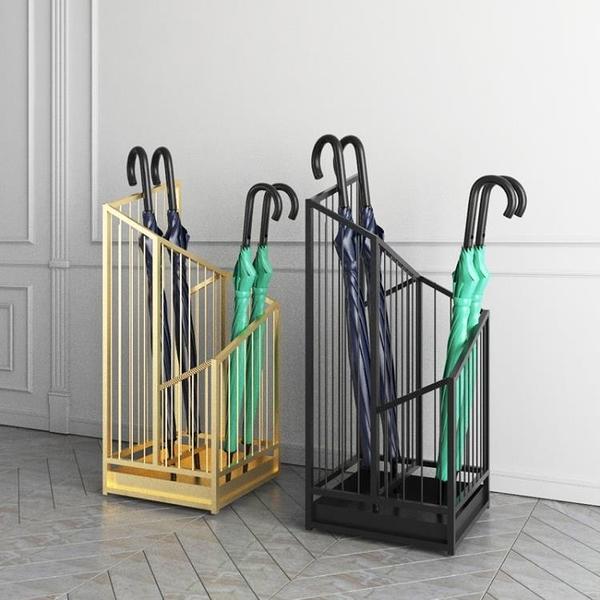 北歐鐵藝雨傘架酒店門口雨傘桶放傘架家用電梯口立傘筒收納置物架 阿卡娜