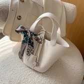水桶包2020新款女包手提包日本涂鴉菜籃子包時尚百搭水桶包絲巾大容量潮 suger