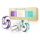 【BVLGARI】寶格麗 水晶系列女性隨身香氛禮盒 15mlx3 (花舞輕盈/晶澈淡香水/晶欣)