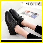工作鞋女黑色皮鞋軟底防滑鞋